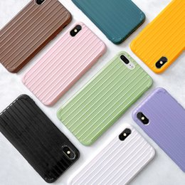 $enCountryForm.capitalKeyWord Australia - Soft TPU PC Luggage Design Apple Phone Case For iPhone X 6 6S 7 8 Plus XS Max Xr Candy Colour Shockproof Back Silicone iphone Cover