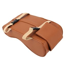 $enCountryForm.capitalKeyWord Australia - Universal Car PU Leather and Memory Foam Wrapped Armrest Box Breathable Car Armrest Box Mat with Phone Holder Storage Bag