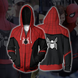 $enCountryForm.capitalKeyWord Australia - NEW 3D Spider-Man Zip Up Hoodie Sweatshirts Long Sleeve Zipper Men woman Masked Spiderman SpiderHoodie Cosplay Sweatshirt Jacket SH190902