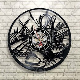 $enCountryForm.capitalKeyWord Australia - Fake Realistic Bread French Dining Decoration Food Still Life Wall Clock Decor Handmade Art Personality Gift (Size: 12 inches, Color: Black)