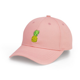 vintage man hat UK - Women Pink Pineapple Baseball Caps Polo Style Cap Vintage Usa Trucker Unconstructed Fashion Unisex Men Hats