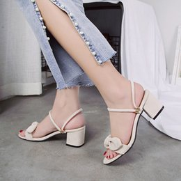 $enCountryForm.capitalKeyWord Australia - One-shoe, two-pair women's sandals 2019 new summer with versatile chunky and fashionable bow-tie slippers for women to wear one-word buckle