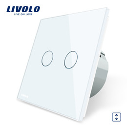Wall Curtains UK - Livolo Luxury W B G 4 Color Crystal Glass Panel , EU Standard Touch Control Curtains Switch, AC 220~250V