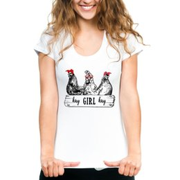 Chicken Clothes Australia - Chicken t shirt Hay girl chook rap short sleeve tops Hip hop unisex fastness tees Colorfast print clothing Pure color modal tshirt