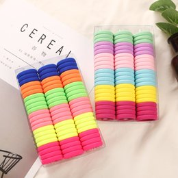 mix box accessories Canada - 3cm 66pcs Box Headwear Hair Accessories Rubber Rope Elastic Hair Bands For Girls Kids Children Baby Charms Tie Gum