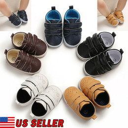 $enCountryForm.capitalKeyWord Australia - Newborn Baby Boy Girl Crib Shoes Faux Leather Infant Toddler Pre Walker Sneakers