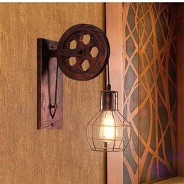$enCountryForm.capitalKeyWord NZ - Loft Retro wall lamp Pendant Lanterns Fixtures Pendant Suspension Light Pulley restaurant aisle pub cafe light bra sconce Lantern fixture