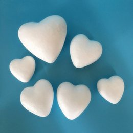 styrofoam crafts Canada - Kids DIY Foam Mold Christmas Party Decoration Supplies Gifts Polystyrene Styrofoam Foam Ball White Craft Heart-shaped Ornaments