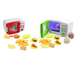toy microwaves 2019 - Simulation Microwave Oven Children Pretend Play And Dress Up Toy Discoloration Lighting Electric Toys Creative Kid 29 5a
