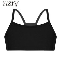 82e336b6d YiZYiF Kids Crop Top Girls Ballet Leotard Clothes Stretchy Solid Color  Tanks Bra Tops for Ballet Dance Stage Performance Workout