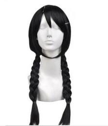$enCountryForm.capitalKeyWord UK - Free shipping>>>New Hot Sell ! fashion Black Braid double ponytail Cosplay Wig