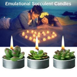 Valentine candles online shopping - Simulation Fruit Succulent Plants Candle Romantic Love Valentine S Day Gift Christmas Party Home Decoration Art Candle
