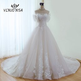 $enCountryForm.capitalKeyWord NZ - Luxury Champagne Lace Royal Train Wedding Dress VLNUO NISA Delicate Beading Embroidered Ball Gown Elegant Princess Bridal Gown