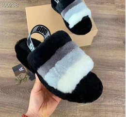 $enCountryForm.capitalKeyWord Australia - Fashion hot sale new explosion models new baby with flat flat wool slippers furry impression cherry powder yeah cool snow boots
