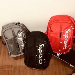 Youth belts online shopping - Sup Luxury Designer Backpacks Men Women Supre Travel Gym Bags Youth Belt Shoulder Bag Street Style M Reflective Schoolbags Rucksack C81203