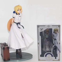 Fate Stay Night Saber Figure Australia - Fate Stay Night 19cm Saber Arturia Pendragon Aniplex Saber Journey To England Ver Fgo Action Figure Model Toys For Kids' Gifts