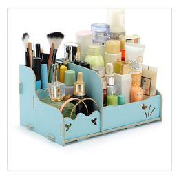 $enCountryForm.capitalKeyWord Australia - Storage Drawers Box DIY Wood Beauty Makeup Cosmetics Organizer Removable Case Cute Style Table Counter Top Dresser Desk