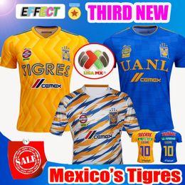 35832a5f72e 2018 2019 UANL TIGRES New Third DE LA Soccer JERSEYS 18 19 Mexico Club LIGA  MX Maillot De Foot Home Yellow 6 star GIGNAC football shirts