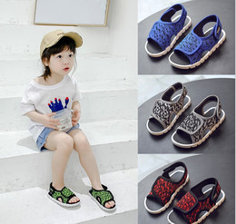 $enCountryForm.capitalKeyWord Canada - Girls sandals 2019 new fashion Korean version of the net red children's beach shoes in the children's boys baby breathable soft shoes