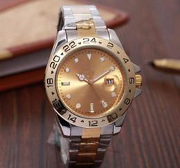 $enCountryForm.capitalKeyWord NZ - Top Selling fashion men GMT Quartz Watches Gold Silver Stainless Steel Gold Dial Dive Ceramic Circle 44mm Mens Calendar Watch Men Watches