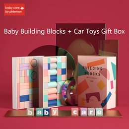 Building Wooden Car Australia - Babycare Baby Wooden Building Blocks Car Toys Kit Letter Shape Early Educational Car Toy Children IQ Challenge Best Gift Box
