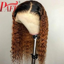 $enCountryForm.capitalKeyWord Australia - PAFF 4*4 Silk Base Curly Wigs Ombre Color Pre Plucked With Baby Hair Brazilian Remy Hair Full Lace Human Hair Wig