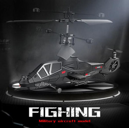 Wholesale Hot sale two 3.5 channel remote control aircraft toys military simulation model aircraft quadcopter
