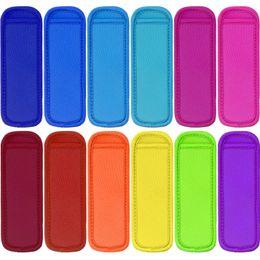 $enCountryForm.capitalKeyWord Australia - Free DHL 18cmX6cm Reusable Popsicle Bags Neoprene Insulation Ice Pop Sleeves for Kids Creative Kitchen Tool 2019 (Random Color Send) H542Q F