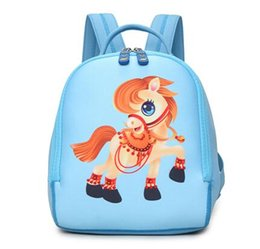 kids backpacks woven Australia - Printing Kids Bag Kindergarten Small Backpack Waterproof Neoprene Cute Pony Children School Bag Girl and Boys Baby Backpacks