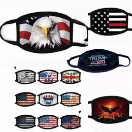 Wholesale US STOCK Face Masks Trump American Election Supplies Dustproof Print Designer Mask Universal For Men And Women American Flag Mask