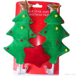 $enCountryForm.capitalKeyWord Australia - 2 Styles Christmas tree CHRISTMAS Car Costume Tree & Star Set Auto Outfits The Original Xmas Reindeer Nose Antler Car Costume Kit