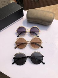 Винтажные солнцезащитные очки с цепочками Стильный дизайнер Франции Круглые очки 100% защита от ультрафиолетового излучения на Распродаже