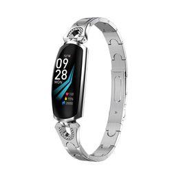 h8 smart watch 2019 - Ak16 Women Smart Band Fitness Bracelet Heart Rate Monitor Blood Pressure Watch Fitness Tracker Pk H8 H1 H2 Smart Bracele