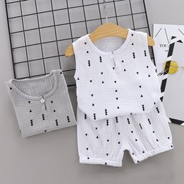 $enCountryForm.capitalKeyWord Australia - Baby Boys Clothes 2019 Summer Style Beach Star Tree Print Casual Sport Suit 2Pcs Sets T Shirt + Shorts Baby Girls Clothes Set