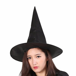 $enCountryForm.capitalKeyWord NZ - Black Witch Hat Clown Magician High Spire Masquerade Hat Cosplay Halloween Party Costume Ball Decoration Top Hat