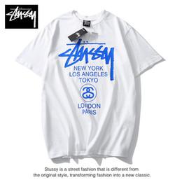 Toptan satış Erkek Tasarımcı T Shirt Yaz Marka Nefes Gevşek T Shirt Erkekler Ve Kadınlar Için Çift Tasarımcı Hip Hop Streetwear Lüks Tees Tops