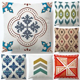 $enCountryForm.capitalKeyWord Australia - Manufacturer draws customized flax pillow sleeve simple geometry pillow cushion sleeve without core car sofa waist pillow pillowcase