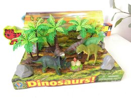 toy dinosaurs Australia - Children toys Cute childlike dinosaur scene toys for kids Eco-friendly material Unscented size 16.5*28*16