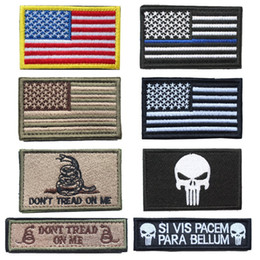 american backpacks Australia - USA flag patches American Thin Blue Line Police Flag Tactical Embroidered Military Patches for clothes backpack hat