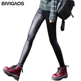 $enCountryForm.capitalKeyWord NZ - Bivigaos Ladies Winter Warm Thick Velvet Faux Leather Leggings Gothic Legging Pants Punk Rock Slim Skinny Pencil Pants For Women SH190628