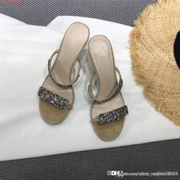$enCountryForm.capitalKeyWord Australia - Women Flash crystal high-heeled slippers ,High-heeled sandals slippers ,Casual sandals for women use