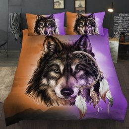 wolf bedding sets Canada - Wolf Series Bedding Set King Size Simple Comfortable 3D Printed Duvet Cover Queen Home Textile Double Single Bed Cover with Pillowcase