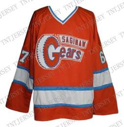 $enCountryForm.capitalKeyWord Australia - Custom Saginaw Gears Retro Hockey Jersey 1973 Orange Personalized stitch any number any name Mens Hockey Jersey XS-5XL
