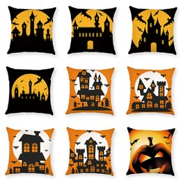 $enCountryForm.capitalKeyWord Australia - Halloween Horror Bat Throw Pillow Case Cotton Linen Waist Cushion Cover Car Sofa Home Decorative Pillow Cover 45*45 cm