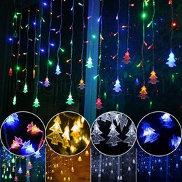 Fairy tree ornaments online shopping - Icicle String Lights M Leds Curtain Christmas Tree Fairy Lights Christmas New Year Lights Wedding Party Decoration RRA127