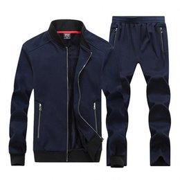 $enCountryForm.capitalKeyWord Australia - WholesaleNew Autumn Winter Men Sporting Suit Hoodies Jacket+Pant Sweatsuit Two Piece Set Tracksuit Sportswear Thick For Men Clothing