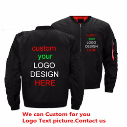 Color Diy Painting Australia - large size men's DIY custom bomber jacket army spring and autumn military style jacket windbreaker men's jacket clothing