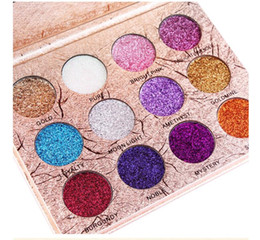 blue eyes eyeshadow colors NZ - 12 Colors Eye Makeup Glitter Highly Pigmented Mineral Pressed Glitter Colorful Makeup Eye Shadow Flash Glitter Eyeshadow Palette DHL Free