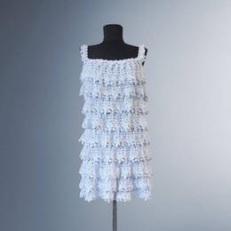 cb12689346dd Mulheres Feitas À Mão Crochet Dress Vanessa. Festa de ocasião especial  branca artesanal algodão orgânico mini vestido de crochê