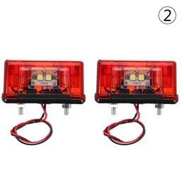 Universal trUck tail lights online shopping - 2x V V LED Rear Tail License Plate Light Car Truck Trailer Lorry Universal